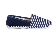 Błękitnych lampasów buty Obraz Royalty Free