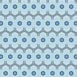 Błękitnych sześciokątów kreatywnie bezszwowy wzór ilustracji