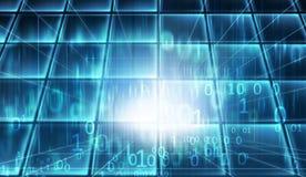 Błękitnych temat cyberprzestrzeni dane pojęcia izbowe serie Zdjęcie Royalty Free