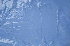 Błękitnych textured farb brushstrokes ścienny minimalista obrazy royalty free