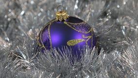 Błękitnych wielkich nowego roku i bożych narodzeń dekoracj szklana piłka - dekoracje zdjęcie wideo
