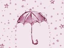 Błękitnych Wod gwiazdy i parasol Fotografia Stock
