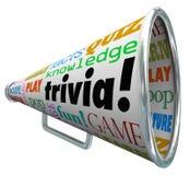 Błachostki wiedzy quizu megafonu megafonu testa popkultura Zdjęcie Royalty Free