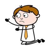 Błagać - Biurowa sprzedawcy pracownika kreskówki wektoru ilustracja royalty ilustracja