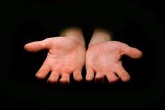 błagaj grosik ręce Fotografia Royalty Free