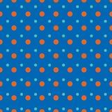 Bławe i czerwień kropki na błękitnym tle Ilustracji