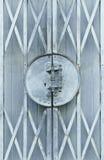 Bławego starego metalu grille ślizgowy drzwi Fotografia Stock