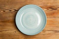 Bławy ceramiczny talerz obrazy stock