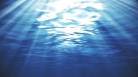 Bławy Głęboki morze Podwodny z światło słoneczne promieni tłem ilustracji