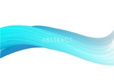 Bławy kolor długiej fala tła abstrakcjonistyczny wektor Zdjęcie Stock