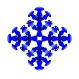 Bławy płatek śniegu, pieczarkowa ikona Fotografia Royalty Free