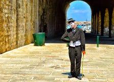 Błazen zaprasza ciebie odwiedzać port Obraz Royalty Free