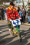Błazenu jeżdżenie na bicyklu Obraz Royalty Free