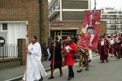 Błazenu Roczny nabożeństwo kościelne, Hackney, Londyn Obrazy Stock