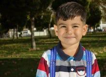 Błogi chłopiec portret fotografia stock