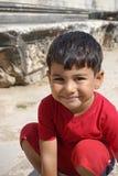 Błogi chłopiec portret zdjęcie royalty free