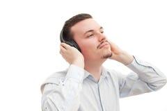 błogości słuchanie obraz stock