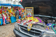 Błogosławić samochód w Copacabana, Boliwia Obraz Stock
