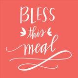 Błogosławi ten posiłek Obraz Stock