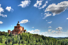 Błogosławiona dziewica St Luca sanktuarium, Bologna, Włochy zdjęcia stock