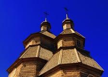 błogosławiony kościół zakrywa dziewicy drewnianej Obrazy Royalty Free