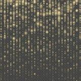 Błyskać migocące lekkie plamy Mod strass krople z błyszczącymi cekinami Boże Narodzenia i nowego roku skutek Złoto ilustracja wektor
