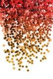 Błyskający gwiazda confetti odizolowywających zdjęcia stock