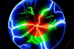 Błyskawica błysku rozładowanie elektryczność na przejrzystym backgrou zdjęcia stock