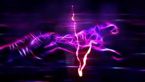 Błyskawicowego kierowego rytmu pulsu geparda kreskówki animaci niekończący się pętli neonowego działającego bezszwowego tła nowa  royalty ilustracja