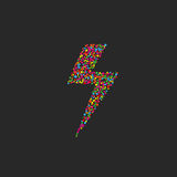 Błyskawicowy błysk barwioni okręgi, szablon dla sztuka projekta ikony Obraz Royalty Free