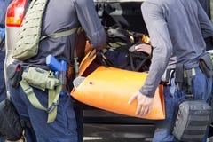 Błyskawiczna medyczna ewakuacja pojazd praktyką egzekwowanie prawa zdjęcie royalty free