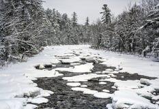 Błyskawiczna rzeka w jesieni Białych górach, New Hampshire zdjęcie stock
