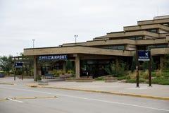 Błyskawicznego miasta Dzielnicowy lotnisko w Południowym Dakota, usa obrazy stock