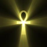 błyski światła ankh egipski symbol życia Zdjęcia Royalty Free