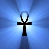 błyski światła ankh egipski symbol życia Obraz Royalty Free