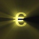 błyski światła waluty euro znak Zdjęcia Royalty Free