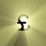błyski światła waluty funty znak ilustracja wektor