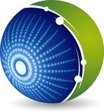 Błyskotanie kuli ziemskiej logo ilustracji