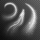 Błyskotliwość cząsteczek czerni Biały Przejrzysty set Obrazy Royalty Free