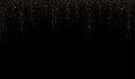 Błyskotliwość lub Złoty pyłu błyskotania deszczu tło wektor Zdjęcie Royalty Free