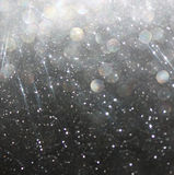 Błyskotliwość rocznik zaświeca tła białego i czarnego abstrakcjonistycznego tło defocused Zdjęcia Royalty Free