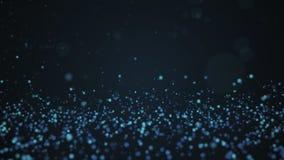 Błyskotliwość rocznik zaświeca tło Błękitny defocused tło Obraz Royalty Free