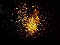 Błyskotliwość rocznik zaświeca tło ciemny złoto i czerń obraz stock