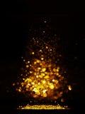 Błyskotliwość rocznik zaświeca tło ciemny złoto i czerń więcej toreb, Świąt oszronieją Klaus Santa niebo Obraz Royalty Free