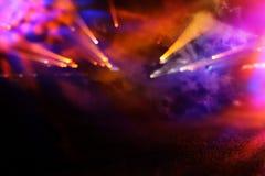 błyskotliwość rocznika tło defocused Neonowi światła Fotografia Stock