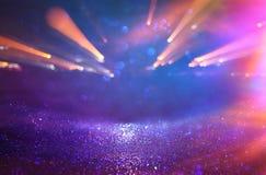 błyskotliwość rocznika tło defocused Neonowi światła Zdjęcia Royalty Free