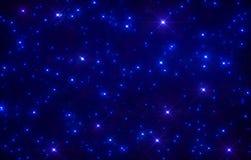 Błyskotliwości gwiazdy przestrzeni tło Obraz Stock