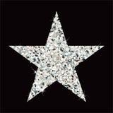 Błyskotliwości srebra gwiazda ilustracja wektor
