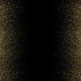 Błyskotliwości tło z jarzyć się światła Złote iskry na czarnym tle Jaskrawa błyskotliwość dekoruje świąteczne kartki z pozdrowien royalty ilustracja