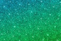 Błyskotliwości tekstura z błękitnej zieleni gradientem Obraz Royalty Free